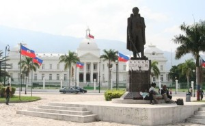 Port au Prince, Presidential Palace and statue of Toussaunt Louverture