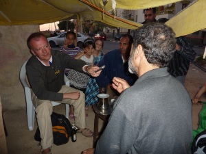 Abu Faris talks, I listen. Benghazi May 2011
