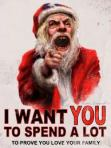 A recession-busting festive message from the man in red